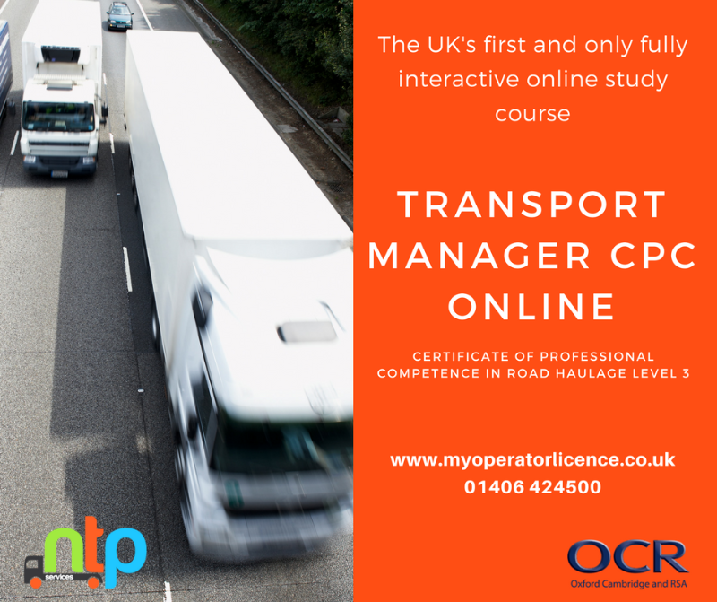 Transport Manager Cpc Online Training The Network By Ntp Network